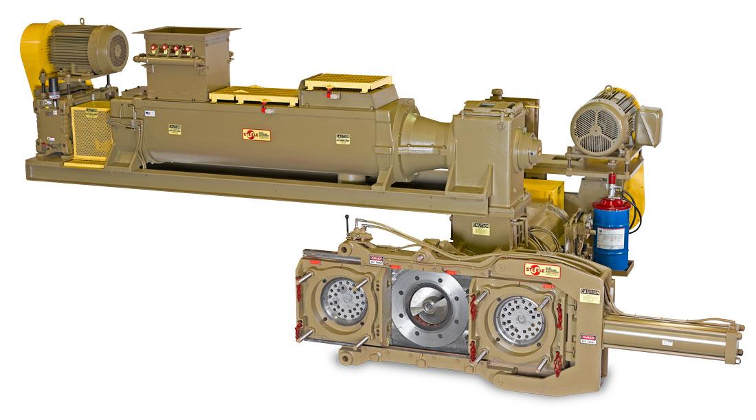 Steele 25 Serires extruder-pug-hydraulic-die-changer