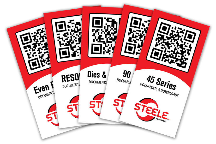 Steele QR coded tags